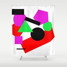 Basic Shapes Shower Curtain
