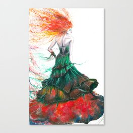 Lady Fire  Canvas Print