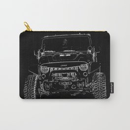 Utility Vehicle Stamp Dark Carry-All Pouch