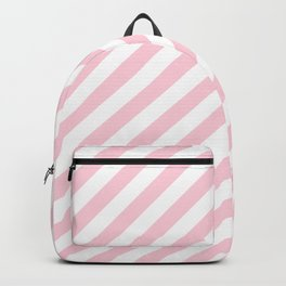 Mini Soft Pastel Pink and White Candy Cane Stripes Backpack