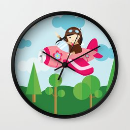 nursery decor , children gift, birthday gift Wall Clock
