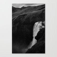 The Plunge - Seljalandsfoss  Canvas Print