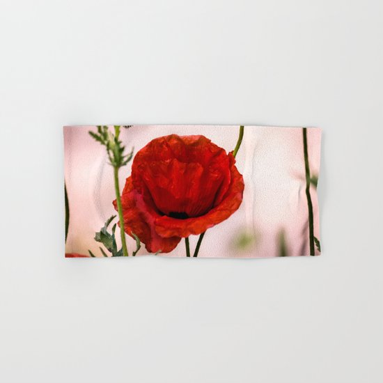 Red poppy Hand & Bath Towel