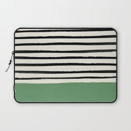 Moss Green x Stripes Laptop Sleeve