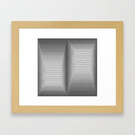 The Binary Rooms Framed Art Print
