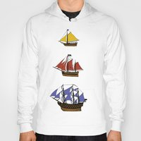 pirate ship Hoodies featuring Pirate Ship Convoy by Scottdoesart