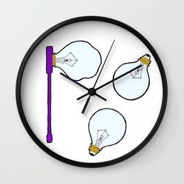 Bulb Bubbles Wall Clock