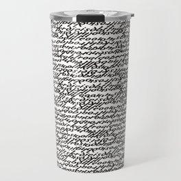 letras Travel Mug