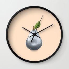 Metal pear Wall Clock