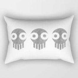Ghost Skull Black Rectangular Pillow