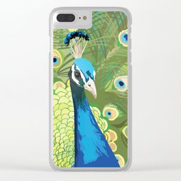 The Majestic Peacock Clear iPhone Case