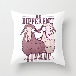 Be different Sheep Best Gift Throw Pillow