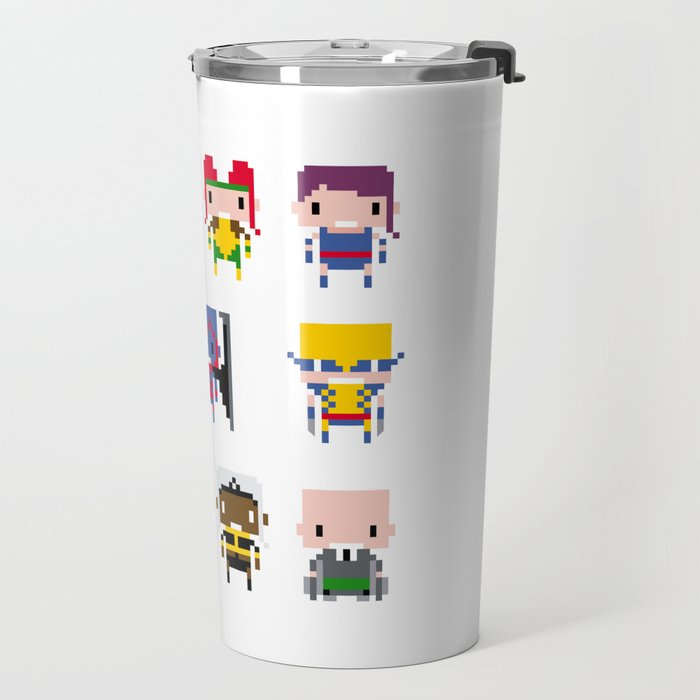 Pixel X-Men Travel Mug
