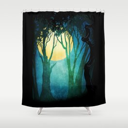 Dance By The Light Of The Full Moon Shower Curtain