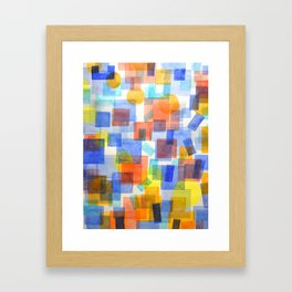Different Things Fall Differently Framed Art Print