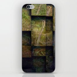 Forest on boxes iPhone Skin