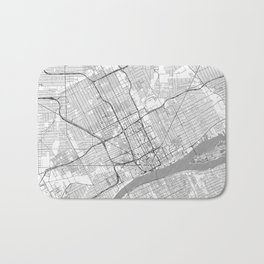 Detroit Map Line Bath Mat