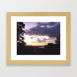 Sunset Over Ohio River Valley Framed Art Print