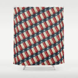 Vintage Texas flag pattern Shower Curtain