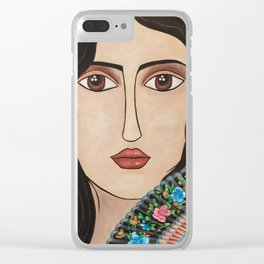 Spanish Woman Clear iPhone Case