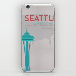 Seattle Poster iPhone Skin