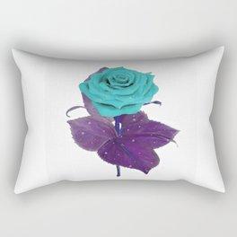 Single Standing Rose (Blue) Rectangular Pillow