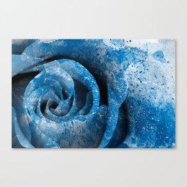 Blue Acrylic Rose Canvas Print