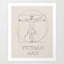 Veteran Man Art Print