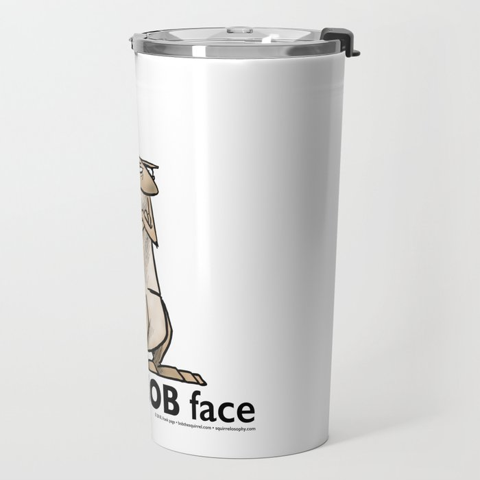 Resting Bob Face Travel Mug