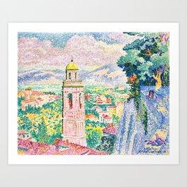 "Henri-Edmond Cross ""Pérouse, le Campanile de Santa Maria Nuova"" Art Print"
