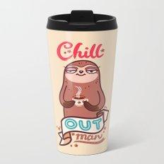 Chill Sloth Metal Travel Mug