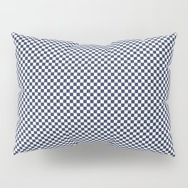 Dark Sargasso Blue and White Mini Check 2018 Color Trends Pillow Sham