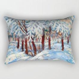 Snow in October by Dennis Weber / ShreddyStudio Rectangular Pillow