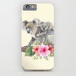 Watercolor Koala Bears Cute Mom & Baby iPhone Case