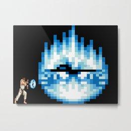 Ryu Hadouken Fireball Metal Print