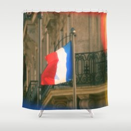 Liberty, Equality, Fraternity Shower Curtain