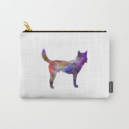 Korea Jindo Dog in watercolor Carry-All Pouch
