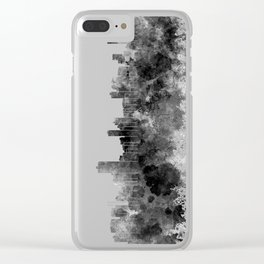 Salvador de Bahia skyline in black watercolor on white background Clear iPhone Case
