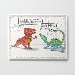 Firefly Dinosaurs Metal Print