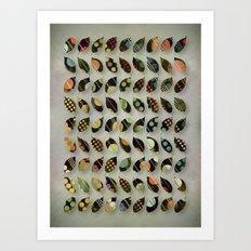Pop Leaves Art Print