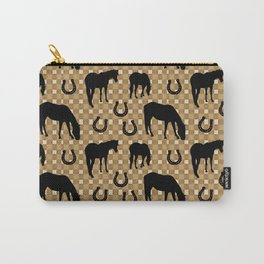 Horse and Shoe Carry-All Pouch
