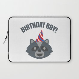 Boy Birthday Raccoon Animal Kids Children Party Celebration gift idea Laptop Sleeve