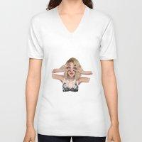coachella V-neck T-shirts featuring Coachella Mood by Judit Mallol
