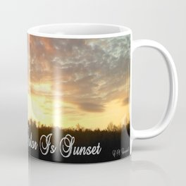 """Sunset Is My Favorite Color"" Coffee Mug"