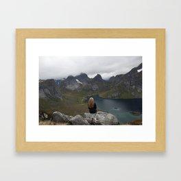 Never ending view Framed Art Print