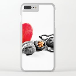 Apple and nuts Clear iPhone Case