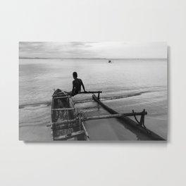 Malagasy canoe Metal Print