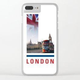 L-ondon Clear iPhone Case