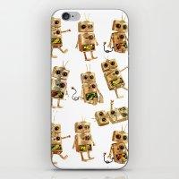 robots iPhone & iPod Skins featuring robots by Lara Paulussen