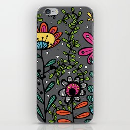 Weird and wonderful (Garden) - fun floral design, nature, flowers iPhone Skin